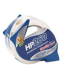 """DUC07364 HP260 PACKAGING TAPE WITH DISPENSER, 3"""" CORE, 1.88"""" X 60 YDS, CLEAR"""