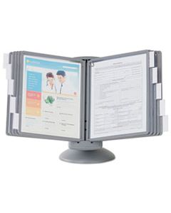 DBL553937 SHERPA MOTION DESK REFERENCE SYSTEM, 10 PANELS, GRAY BORDERS