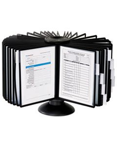 DBL555701 SHERPA 40-PANEL CAROUSEL REFERENCE SYSTEM, 80 SHEET CAPACITY, BLACK