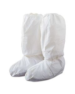 DRPIC444SL TYVEK ISOCLEAN HIGH BOOT COVERS WITH PVC SOLES, WHITE, LARGE, 200/CARTON