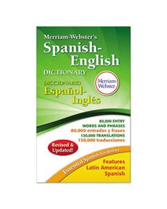 MER824 MERRIAM-WEBSTER'S SPANISH-ENGLISH DICTIONARY, 928 PAGES