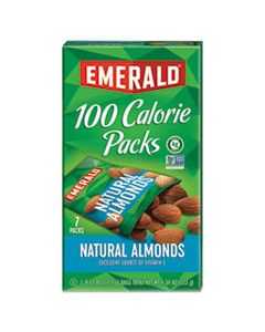 DFD34325 100 CALORIE PACK ALL NATURAL ALMONDS, 0.63 OZ PACKS, 7/BOX