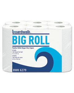 BWK6279CT OFFICE PACKS PERFORATED PAPER TOWEL ROLLS, 2-PLY, WHITE, 5.5X11, 140/ROLL, 24/CT