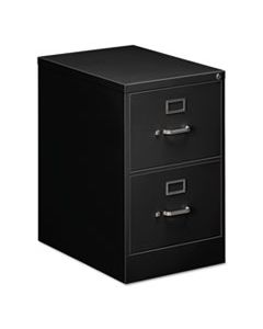 ALEVF1929BL TWO-DRAWER ECONOMY VERTICAL FILE CABINET, LEGAL, 18.25W X 25D X 29H, BLACK