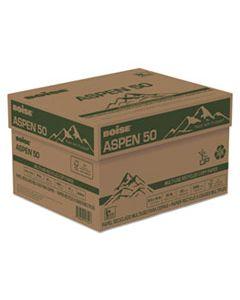 CAS055014 ASPEN 50 MULTI-USE RECYCLED PAPER, 20 BRIGHT, 20LB, 8.5 X 14, WHITE, 500 SHEETS/REAM, 10 REAMS/CARTON
