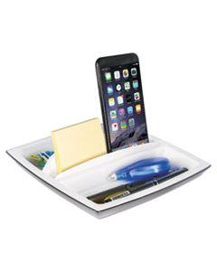 KTKORG490 DESK TOP ORGANIZER AND TABLET/PHONE HOLDER, PLASTIC, 8 1/4 X 8 1/4 X 2 3/4