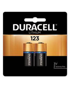DURDL123AB2BPK SPECIALTY HIGH-POWER LITHIUM BATTERY, 123, 3V, 2/PK