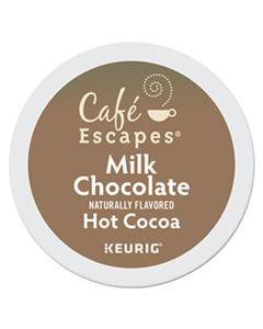 GMT6801 CAFE ESCAPES MILK CHOCOLATE HOT COCOA K-CUPS, 24/BOX