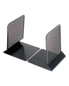 "UNV20025 METAL MESH BOOKENDS, 5 3/8"" X 6 3/4"", BLACK"