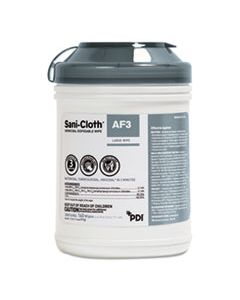 NICP13872 SANI-CLOTH AF3 GERMICIDAL DISPOSABLE WIPES, 6 X 6 3/4, 12 PER CARTON