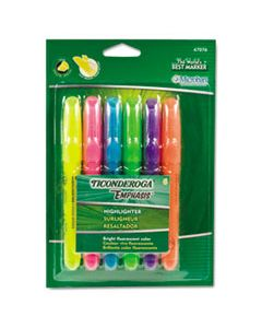 DIX47076 EMPHASIS DESK STYLE HIGHLIGHTERS, CHISEL TIP, ASSORTED COLORS, 6/SET