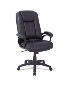 ALECC4119F ALERA CC SERIES EXECUTIVE HIGH BACK LEATHER CHAIR, SUPPORTS UP TO 275 LBS., BLACK SEAT/BLACK BACK, BLACK BASE