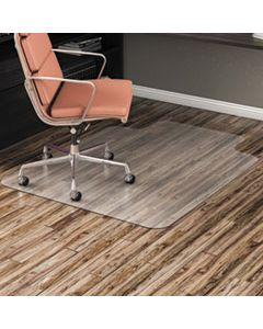 ALEMAT3648HFL ALL DAY USE NON-STUDDED CHAIR MAT FOR HARD FLOORS, 36 X 48, LIPPED, CLEAR