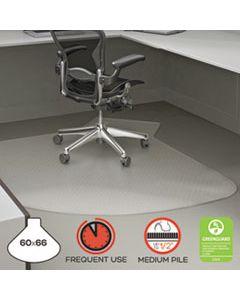 DEFCM14002K SUPERMAT FREQUENT USE CHAIR MAT, MEDIUM PILE CARPET, 60 X 66, L-SHAPE, CLEAR