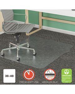 DEFCM14142 SUPERMAT FREQUENT USE CHAIR MAT FOR MEDIUM PILE CARPET, 36 X 48, RECTANGULAR, CLEAR
