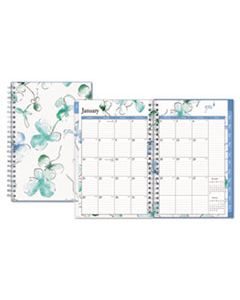 BLS101579 LINDLEY WEEKLY/MONTHLY WIREBOUND PLANNER, 8 X 5, WHITE/BLUE, 2020