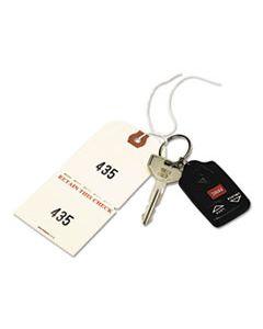 AVE18670 DUPLICATE AUTO PARK TAGS, 1-500, 4 3/4 X 2 3/8, MANILA, 500/BOX