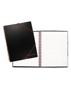 JDK400077473 BLACK N' RED A4+ FILING NOTEBOOK, WIDE/LEGAL RULE, BLACK, 11.68 X 8.25, 80 SHEETS