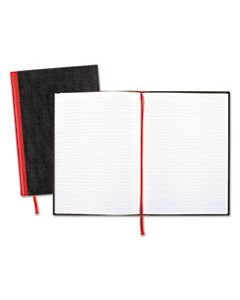 JDKD66174 CASEBOUND NOTEBOOKS, WIDE/LEGAL RULE, BLACK COVER, 11.75 X 8.25, 96 SHEETS