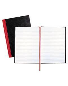 JDKE66857 CASEBOUND NOTEBOOKS, WIDE/LEGAL RULE, BLACK COVER, 8.25 X 5.68, 96 SHEETS
