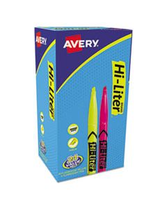 AVE29861 HI-LITER PEN-STYLE HIGHLIGHTERS, CHISEL TIP, ASSORTED COLORS, 24/PACK