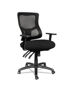 ALEELT4214M ALERA ELUSION II SERIES MESH MID-BACK MULTI-FUNCTION WITH SEAT SLIDE CHAIR, SUPPORTS UP TO 275 LBS, BLACK SEAT/BACK/BASE
