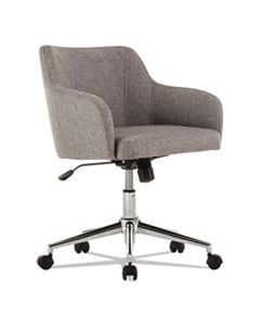 ALECS4251 ALERA CAPTAIN SERIES MID-BACK CHAIR, SUPPORTS UP TO 275 LBS., GRAY TWEED SEAT/GRAY TWEED BACK, CHROME BASE