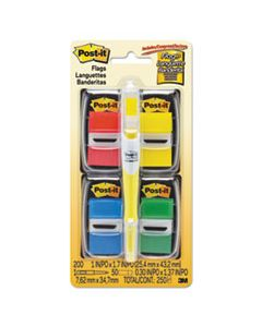 "MMM680RYBGVA PAGE FLAG VALUE PACK, ASSORTED, 200 1"" FLAGS + HIGHLIGHTER WITH 50 1/2"" FLAGS"