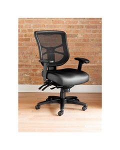 ALEEL4215 ALERA ELUSION SERIES MESH MID-BACK MULTIFUNCTION CHAIR, SUPPORTS UP TO 275 LBS., BLACK SEAT/BLACK BACK, BLACK BASE
