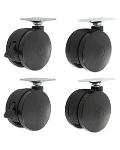 ALEHT3004 CASTERS FOR HEIGHT-ADJUSTABLE TABLE BASES, BLACK, 4/SET