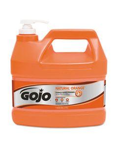 GOJ095504CT NATUAL ORANGE PUMICE HAND CLEANER, CITRUS, 1 GAL PUMP BOTTLE, 4/CARTON