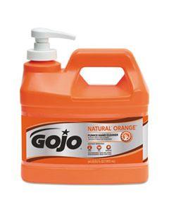 GOJ095804 NATURAL ORANGE PUMICE HAND CLEANER, CITRUS, 0.5 GAL PUMP BOTTLE, 4/CARTON