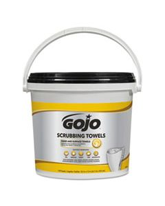 GOJ639802 SCRUBBING TOWELS, HAND CLEANING, WHITE/YELLOW, 170/BUCKET, 2 BUCKETS/CARTON