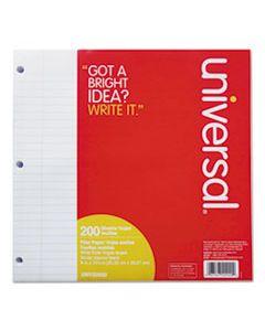 UNV20920 FILLER PAPER, 3-HOLE, 8 X 10.5, WIDE/LEGAL RULE, 200/PACK
