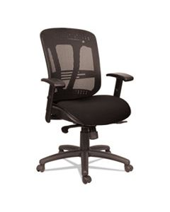 ALEEN4217 ALERA EON SERIES MULTIFUNCTION MID-BACK CUSHIONED MESH CHAIR, SUPPORTS UP TO 275 LBS., BLACK SEAT/BLACK BACK, BLACK BASE