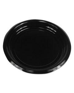 """BWKPLTHIPS9BL HI-IMPACT PLASTIC DINNERWARE, PLATE, 9"""" DIAMETER, BLACK, 500/CARTON"""