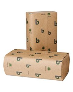 BWK53GREEN BOARDWALK GREEN MULTIFOLD TOWELS, NATURAL, 9 1/8 X 9 1/2, 250/PACK, 16 PACKS/CT