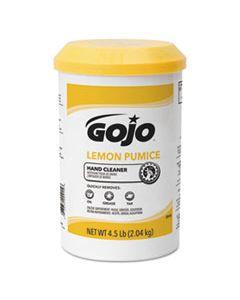 GOJ0915 LEMON PUMICE HAND CLEANER, LEMON SCENT, 4.5 LB TUB, 6/CARTON