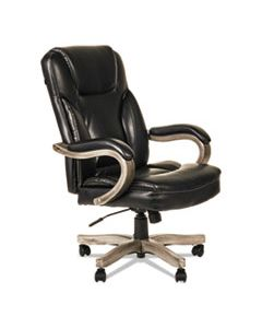 ALETS4119G ALERA TRANSITIONAL SERIES EXECUTIVE WOOD CHAIR, SUPPORTS UP TO 275 LBS., BLACK SEAT/BLACK BACK, GRAY ASH BASE