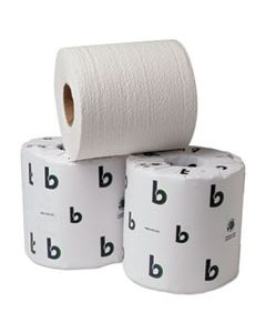 BWK26GREEN BOARDWALK GREEN BATHROOM TISSUE, SPLIT-CORE, SEPTIC SAFE, 2-PLY, WHITE, 3.75 X 4.5, 500 SHEETS, 96/CARTON