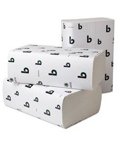 "BWK49GREEN BOARDWALK GREEN MULTIFOLD TOWELS, 9"" X 9 1/2"", WHITE, 250/PACK, 16 PACKS/CARTON"