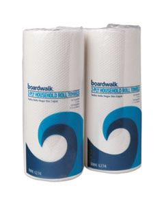 BWK6277 HOUSEHOLD PERFORATED PAPER TOWEL ROLLS, 2-PLY, 9 X 11, WHITE, 100/ROLL, 30 ROLLS/CARTON
