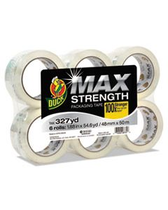 """DUC241513 MAX PACKAGING TAPE, 3"""" CORE, 1.88"""" X 54.6 YDS, CRYSTAL CLEAR, 6/PACK"""