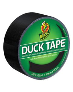 """DUC1265013 COLORED DUCT TAPE, 3"""" CORE, 1.88"""" X 20 YDS, BLACK"""