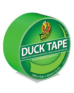 """DUC1265018 COLORED DUCT TAPE, 3"""" CORE, 1.88"""" X 15 YDS, NEON GREEN"""
