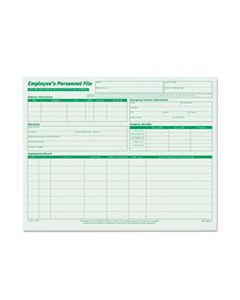 TOP3287 EMPLOYEE'S RECORD FILE FOLDERS, STRAIGHT TAB, LETTER SIZE, GREEN, 20/PACK