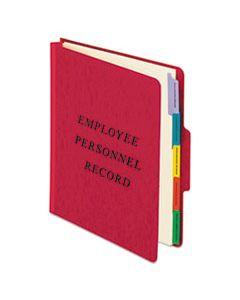 PFXSER1ER VERTICAL STYLE PERSONNEL FOLDERS, 1/3-CUT TABS, CENTER POSITION, LETTER SIZE, RED