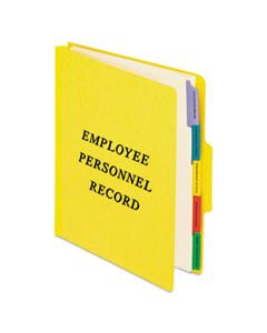 PFXSER1YEL VERTICAL STYLE PERSONNEL FOLDERS, 1/3-CUT TABS, CENTER POSITION, LETTER SIZE, YELLOW