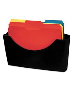 FEL75275 PLASTIC PARTITION ADDITIONS FILE POCKET, LETTER, DARK GRAPHITE