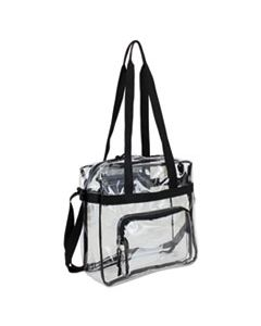 EST498000BJBLK CLEAR STADIUM APPROVED TOTE, 12 X 5 X 12, BLACK/CLEAR